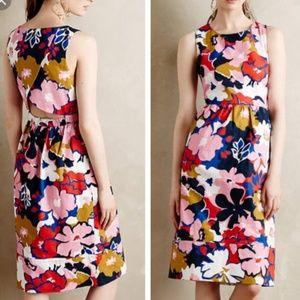 Anthropologie whit two petal crossback dress